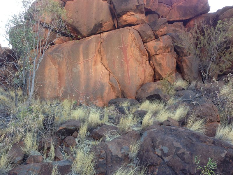 Ochre paintings near confluence