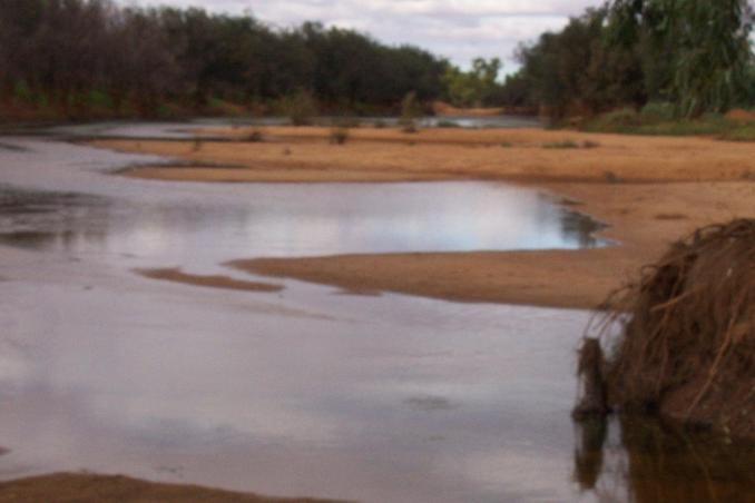 View of the Murchison River looking south west
