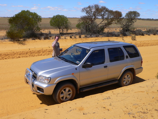 Clayton and his 4x4 ready for the drive back to Perth