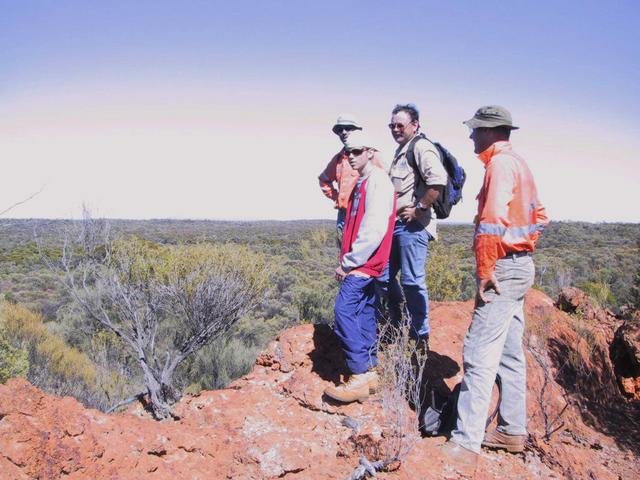 Admiring the view of the Mount Manning Nature Reserve