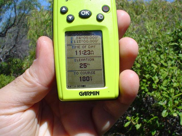 GPS at confluence point 34°S 115°E