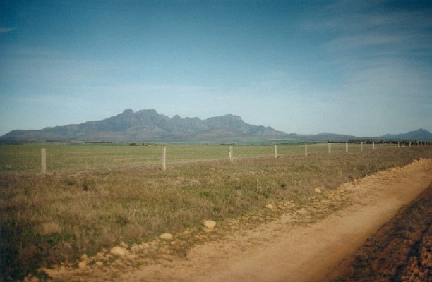 Bluff Knoll and the Stirling Range from the Boxwood Hill - Borden Road.