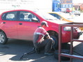 #2: Getting my tire replaced at the Taxi-Bar