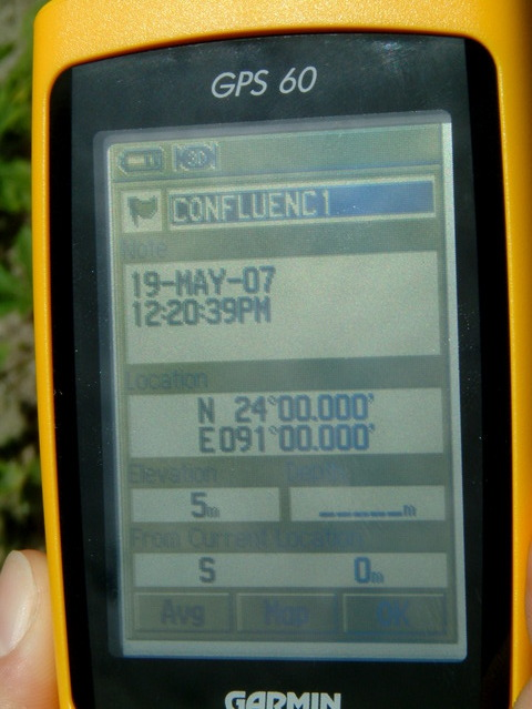 GPS at exactly 24.00 - 91.00  (error on other photo, 11m)