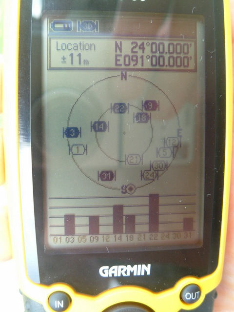 GPS at exactly 24.00 - 91.00, showing 11m error