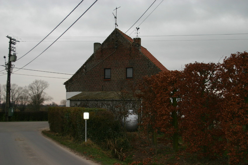 The house, as viewed from the street