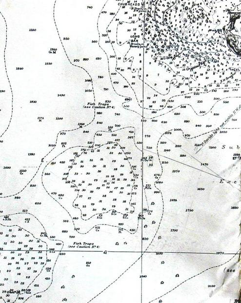 Nautical Chart of Bda SW reef, Challenger & Argus Banks