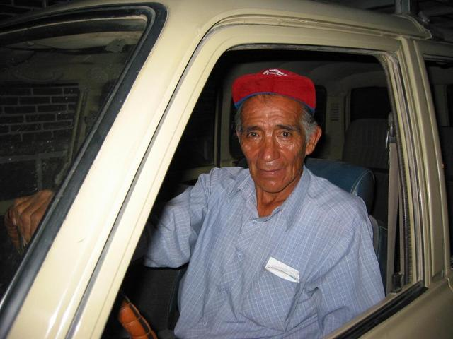 Jorge Gonzalez, our trustworthy driver without whom we would have been up a dry riverbed never to be heard from again