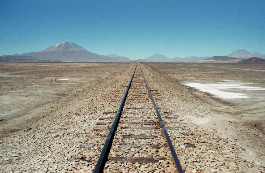 The railroad to Chile, a few km south of the CP