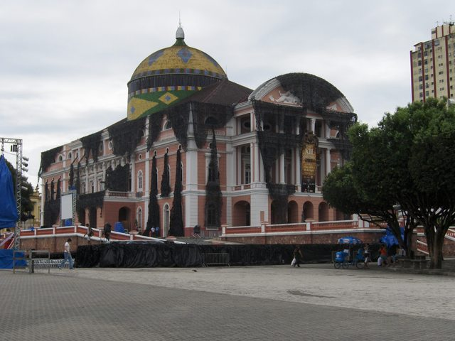 THE BEAUTIFUL THEATER HOUSE AT MANAUS CITY