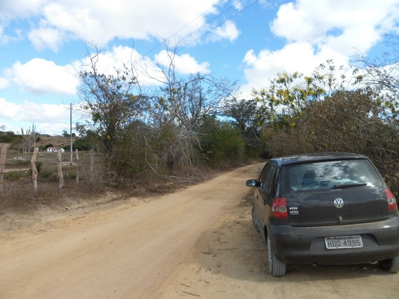 Parei o carro a 131 metros da confluência - car stopped 131 meters to the confluence
