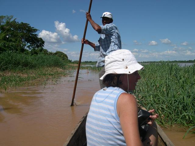 The canoe crossing Sao Francisco