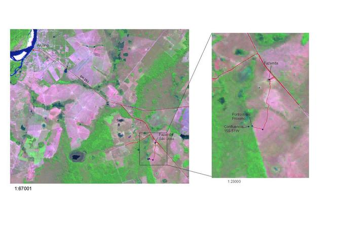 Image Landsat with tracklog