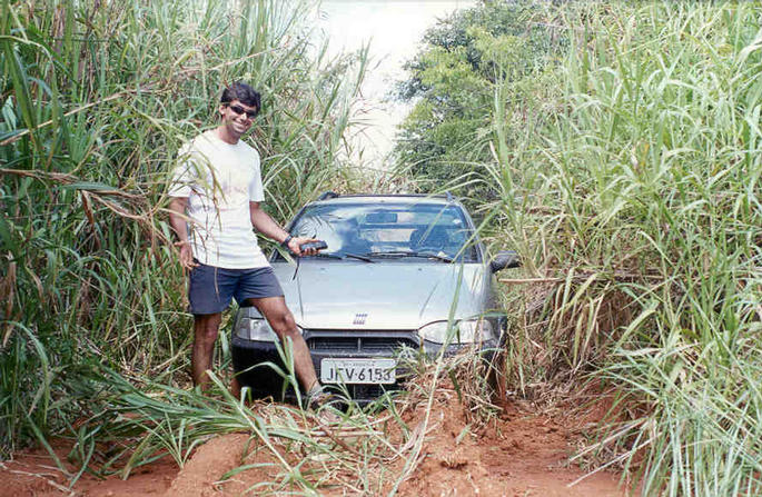 Fabio and his car.