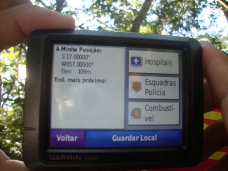 Registro no GPS da Confirmando a Conquista da Confluência. GPS proof