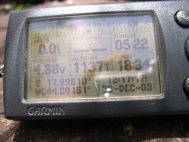 The GPS far 500 meters from confluence