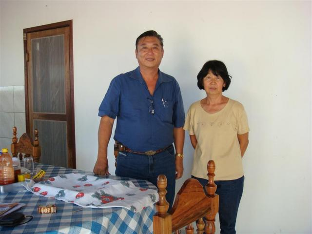 Mr Hitoshi, owner of ranch and Setsuko