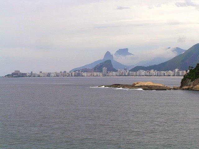 "The ""Copacabana"" seen from the ship's anchoring position"