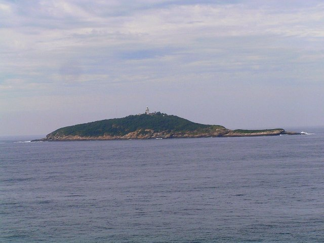 Ilha Rasa seen from the ship's anchor position