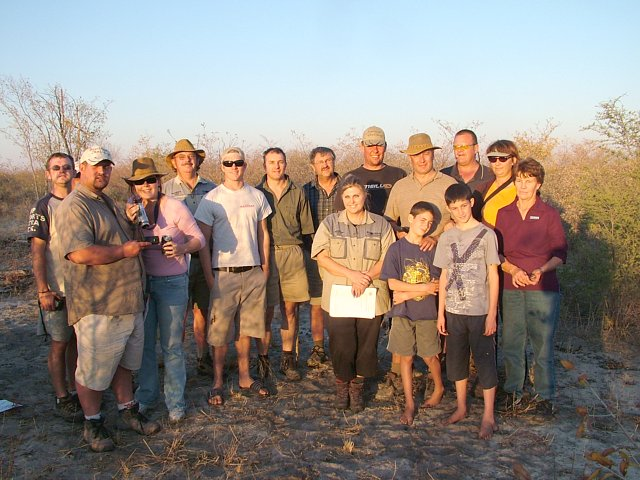 The group that visited the Confluence