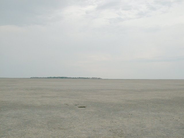 Kubu Island in the distance