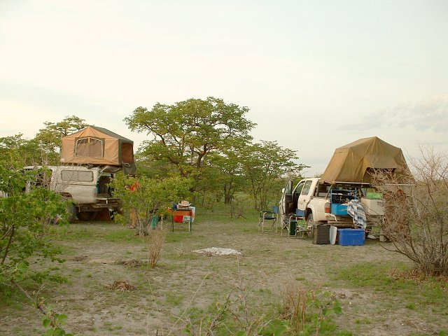 Campsite after unsuccessful visit