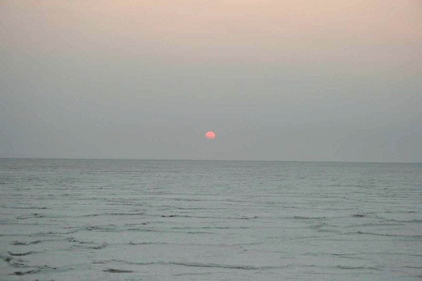 Sunrise over Sua Pan