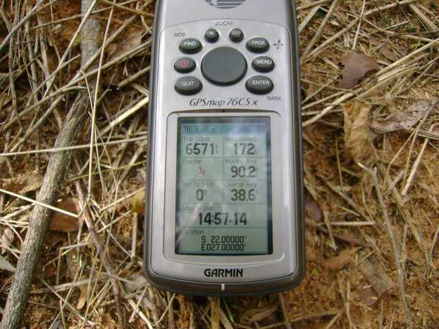 GPS photo on 22S 27E confluence