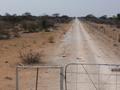 #2: Locked gate - camera facing due east towards border