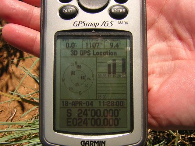 Picture of GPS at 24S 24E