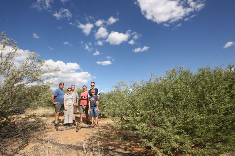 The group that visited the Confluence. FLTR: Anton, Astrid, Willie, Carl, Kobus, Michal