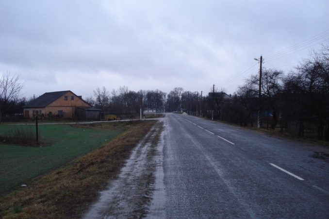 A road through a village