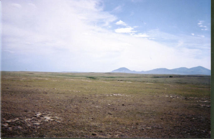 Looking south into Montana and the Sweetgrass Hills