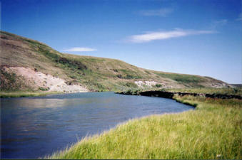 #1: Looking north, down the North Milk River
