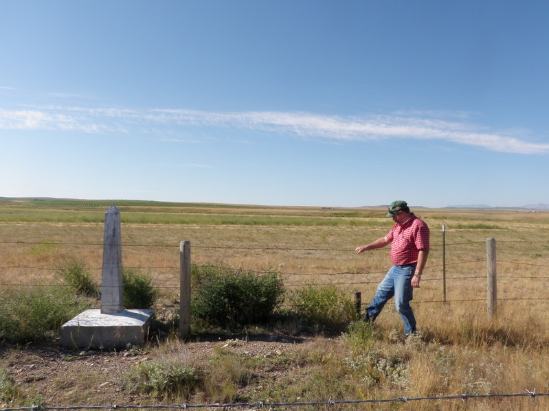 Remington Ranch Manager at the border marker