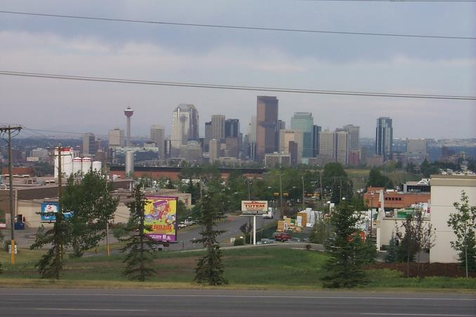 Downtown Calgary as seen on our way to Ogden Industrial Park.
