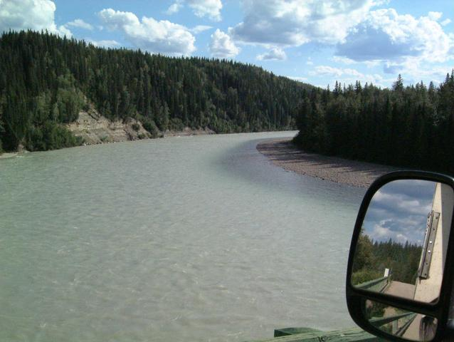 Athabasca River near confluence