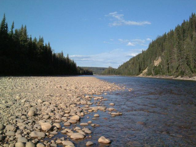 Berland River 1000 feet from confluence