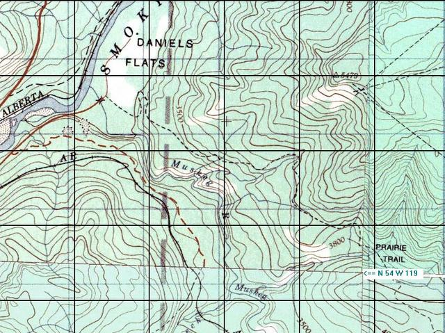 Topo map of confluence area.