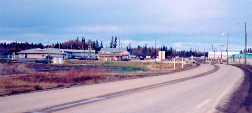 South end of Wabasca-Desmarais hamlet