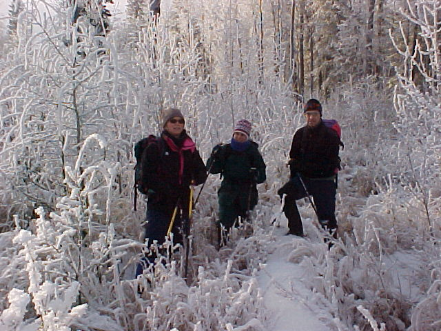 Trekking through The Frost - Sandy, Kim & Sean