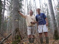 #6: Greg and Chris standing at the confluence location.  The rubber boots  weren't completely necessary.
