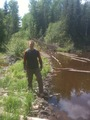 #8: Chris crossing the beaver dam