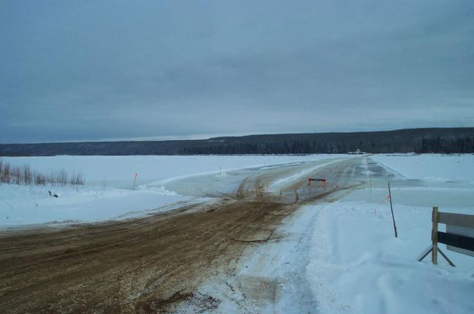 Ice Bridge over the Peace River
