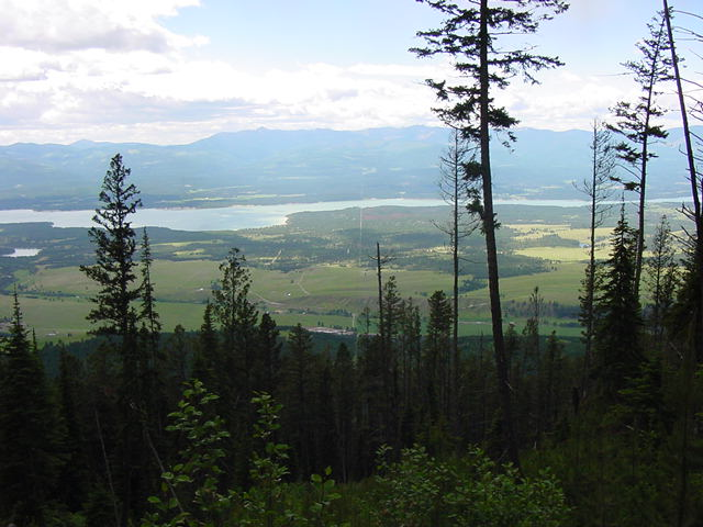 Panorama to west overlooking Roosville and Lake Koocanusa