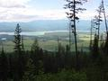 #3: Panorama to west overlooking Roosville and Lake Koocanusa
