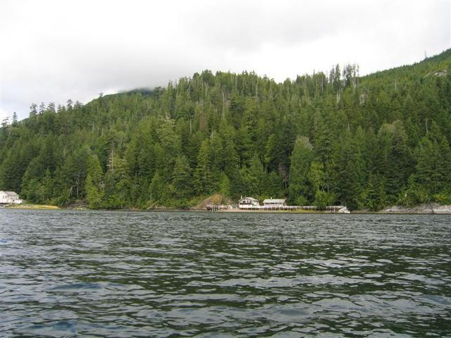 Looking North, Garry's lodge can be seen hanging out on the left side of the picture