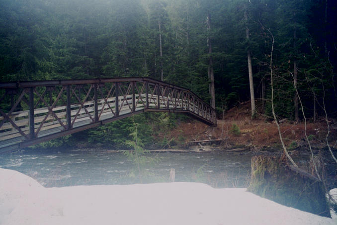 The bridge over the Cheakamus River