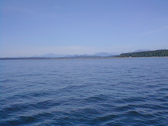 Looking west toward Campbell River on Vancouver Island