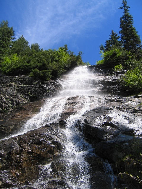 One of the many waterfalls that required traversing